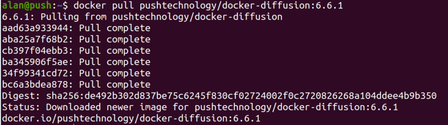 output of Docker pull command
